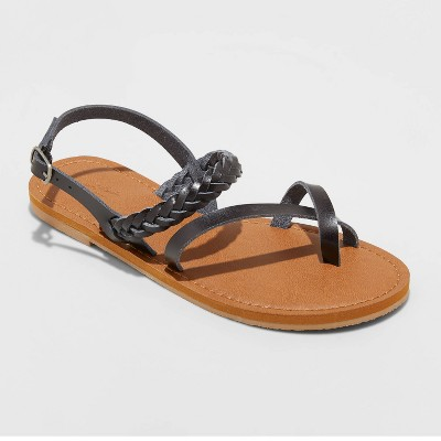 Women's Nadia Braided Ankle Strap Sandals - Universal Thread™