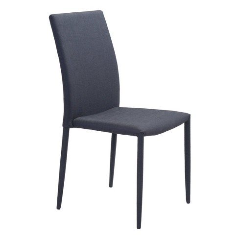 Set Of 2 Slim Upholstered Dining Chair Black Zm Home Target