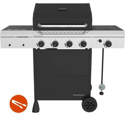 Megamaster 4-Burner Gas Grill with Stainless Steel Tong 720-0804HTG