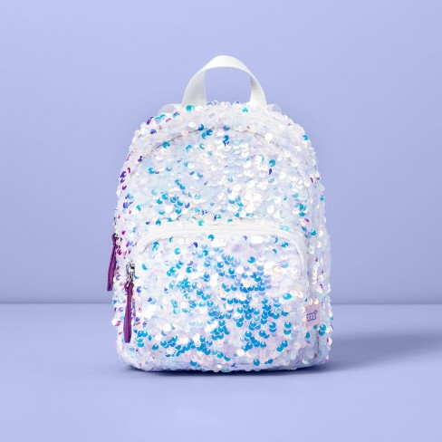 Girls' Sequin Mini Backpack - More Than Magic™ White - image 1 of 3
