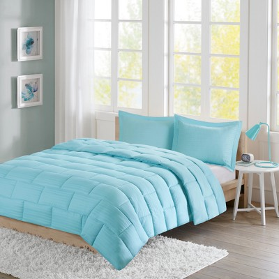 Ava Seersucker Down Alternative Comforter Set