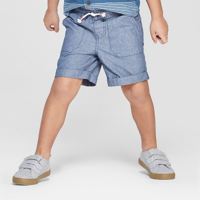 Toddler Boys' Texture Pull-On Shorts - Cat & Jack™ Blue 3T
