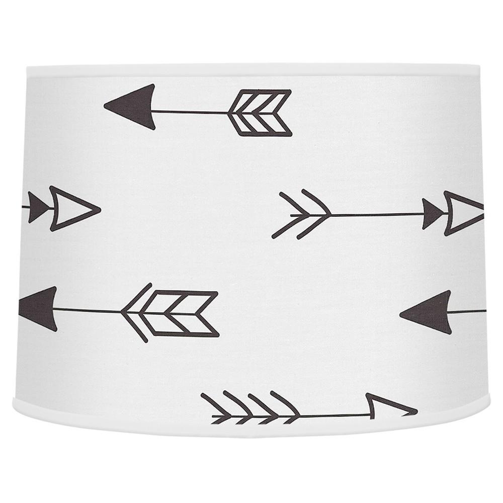 Image of Black & White Arrow Lampshade - Sweet Jojo Designs