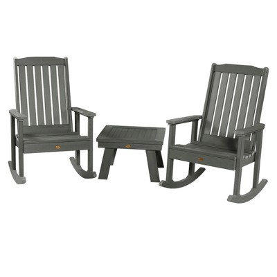 Lehigh Rocking Chairs 2pk with Adirondack Side Table - Highwood
