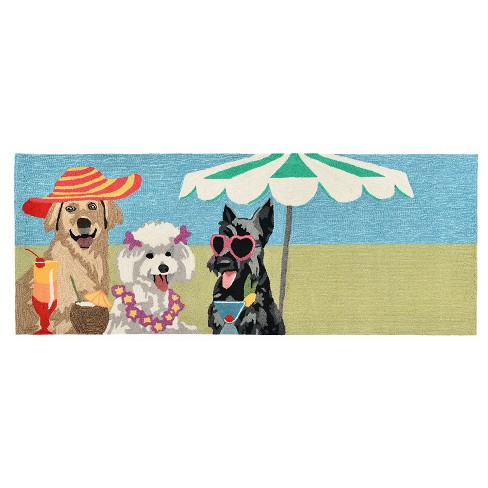"Frontporch Indoor/Outdoor Sassy Lassies Bright Rug 27""X72"" Multi - Liora Manne - image 1 of 1"