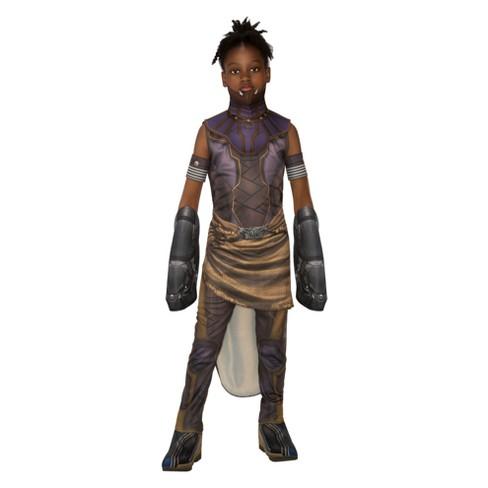 Halloween Costumes For Girls.Marvel Girls Black Panther Deluxe Shuri Halloween Costume