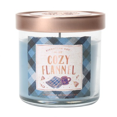 4oz Small Lidded Jar Candle Cozy Flannel - Signature Soy