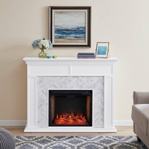 Tenmoor Tiled Marble Fireplace Mantel with Alexa Firebox - Aiden Lane - image 1 of 4