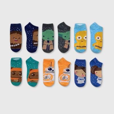 Women's Fuzzy Star Wars 6pk Low Cut Socks - Assorted Color 4-10