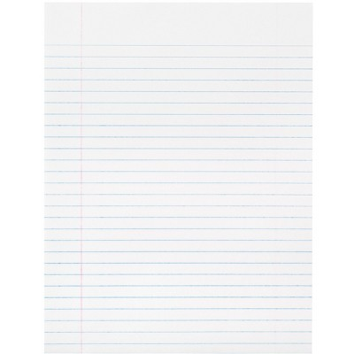 School Smart Composition Paper, 8 x 10-1/2 Inches, White, 500 Sheets