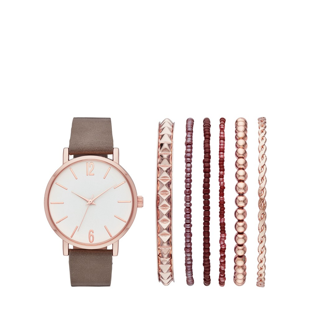 Women's Strap Watch Set - A New Day Rose Gold