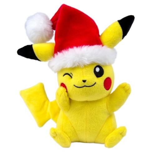 a7309807a56 Pokemon Pikachu With Santa Hat Basic Plush 8