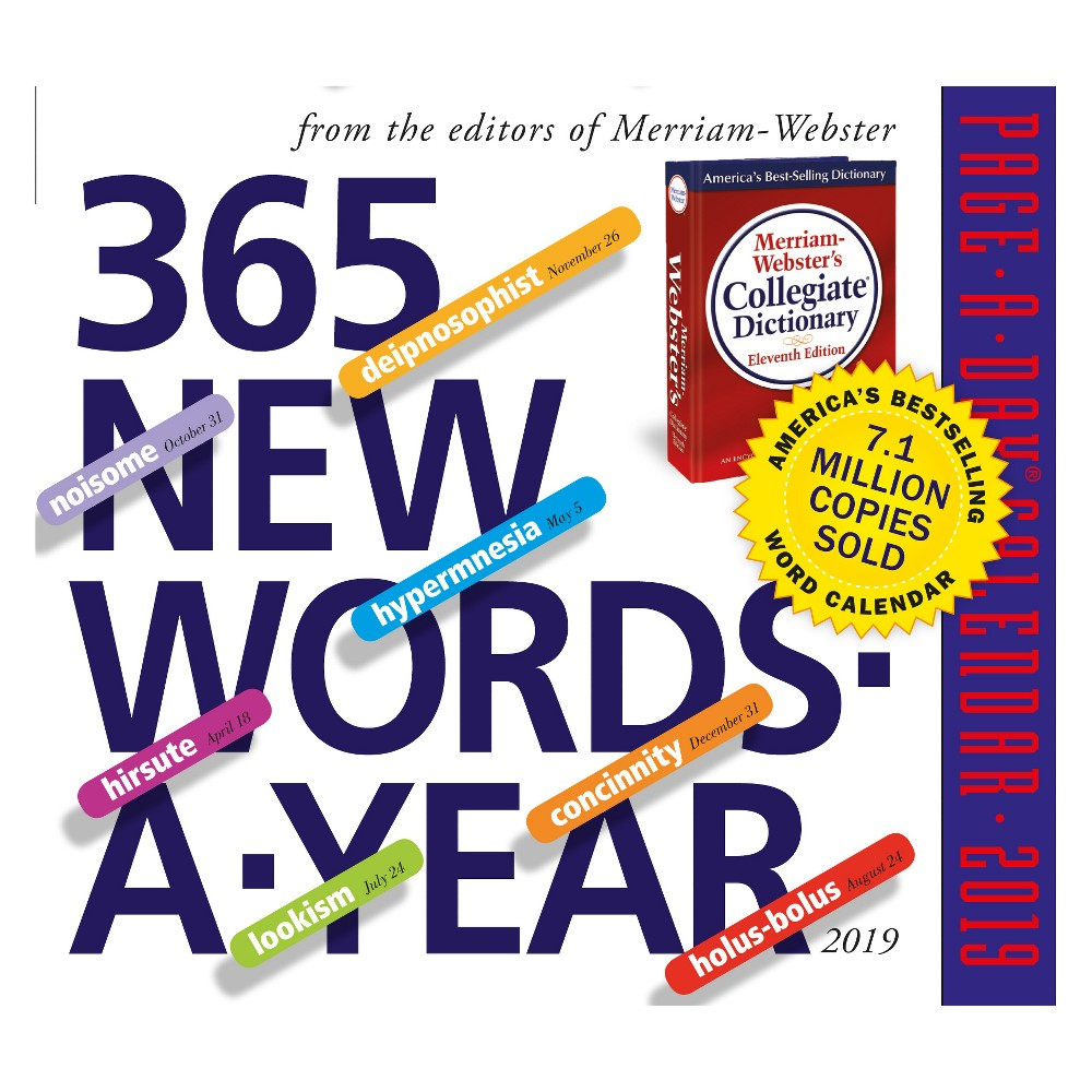 '2019 New Words Page-A-Day' Desktop Calendar, Multi-Colored