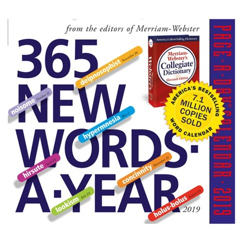 """2019 New Words Page-A-Day"" Desktop Calendar - image 1 of 1"