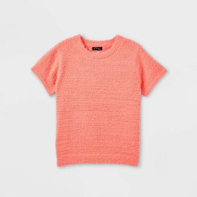 Girls' Fuzzy Short Sleeve Sweater - art class™