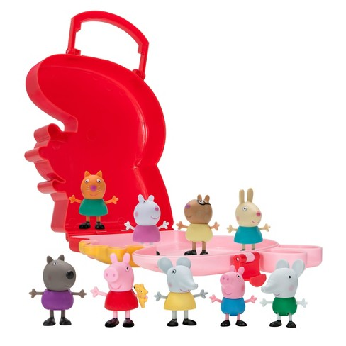 peppa pig carry along friends 10pc target