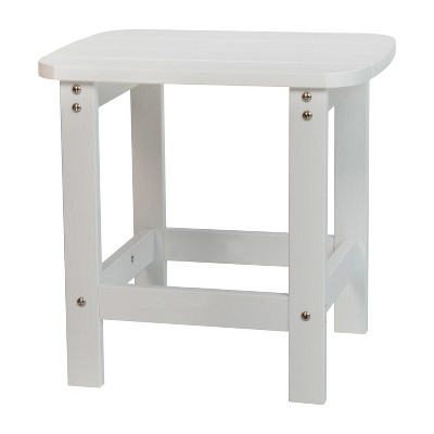 Flash Furniture Charlestown All-Weather Poly Resin Wood Adirondack Side Table