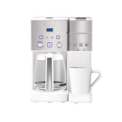Cuisinart Coffee Center 12-Cup Coffeemaker and Single-Serve Brewer - White - SS-15WP1