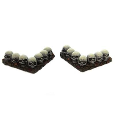 "Department 56 Accessory 0.5"" Row Of Skulls Curved Halloween Hedge Corner  -  Decorative Figurines"