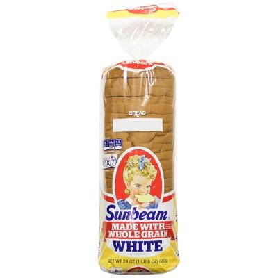 Sunbeam Whole Grain White Sandwich Bread - 24oz