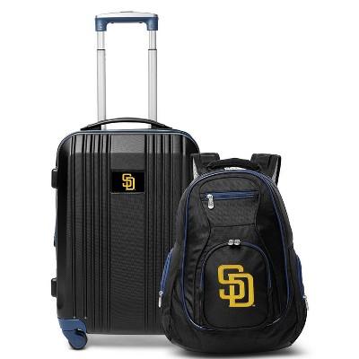 MLB San Diego Padres 2 Pc Carry On Luggage Set