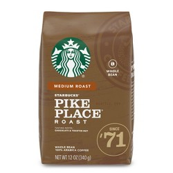 Starbucks Pike Place Roast Medium Roast Whole Bean Coffee - 12oz