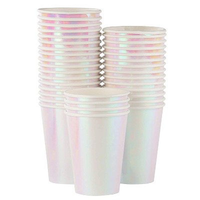 Juvale 36-Pack Iridescent Disposable Paper Cups Tumblers 12 oz Party Supplies
