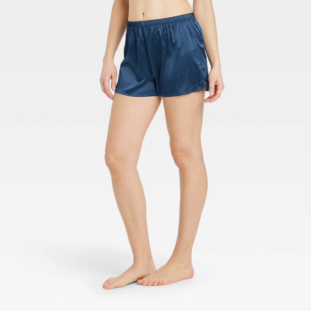 Women 39 S Satin Pajama Shorts Stars Above 8482 Navy L