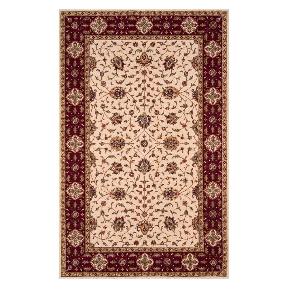 3'X5' Floral Loomed Accent Rug Ivory - Momeni