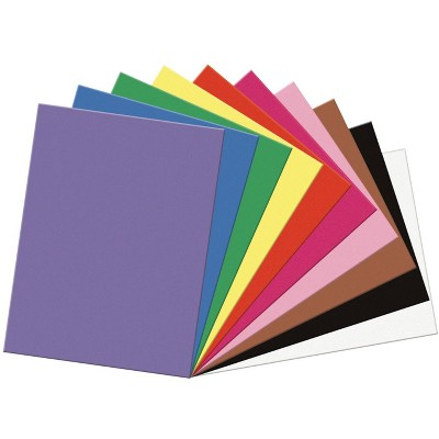 SunWorks Heavyweight Construction Paper, 18 x 24 Inches, Assorted Colors, pk of 50