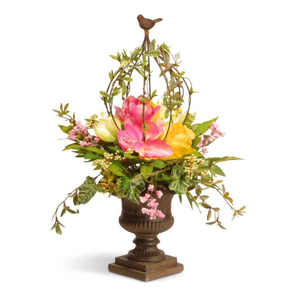 Artificial Spring Floral Topiary Pink 25 - National Tree Company