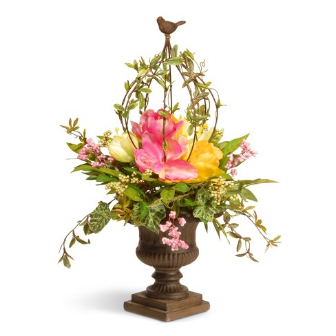 Artificial spring floral topiary pink 25 national tree company about this item mightylinksfo