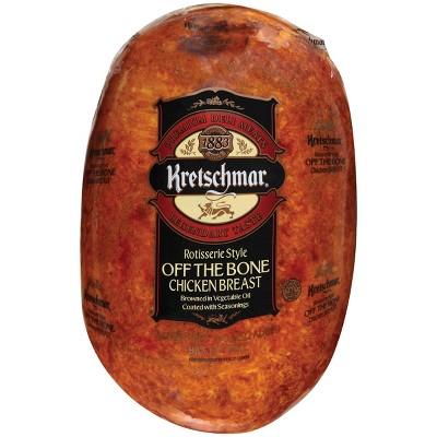 Kretschmar Rotisserie Style Off the Bone Chicken Breast - Deli Fresh Sliced - price per lb