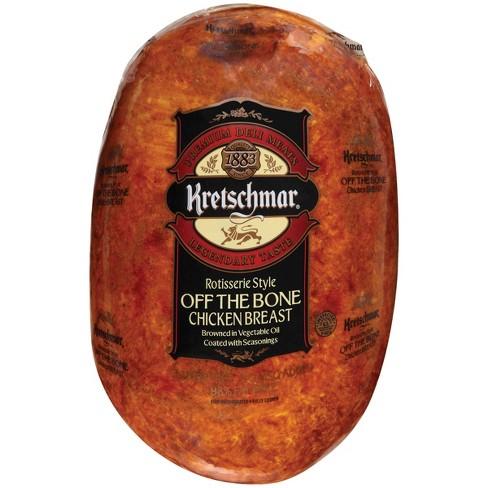 Kretschmar Rotisserie Style Off the Bone Chicken Breast - Deli Fresh Sliced - price per lb - image 1 of 2