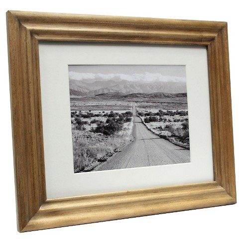 "Mid-Tone Wood 11""x14"" Matted for 8""x10"" Frame - Threshold™ - image 1 of 1"