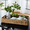 """26"""" x 16"""" Decorative Banana Leaf Rectangle Woven Tray with Cut Off Handles Brown - Threshold™ designed with Studio McGee - image 2 of 4"""