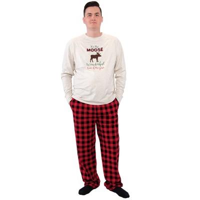 Hudson Baby Mens Unisex Holiday Pajamas, Moose Wonderful Time