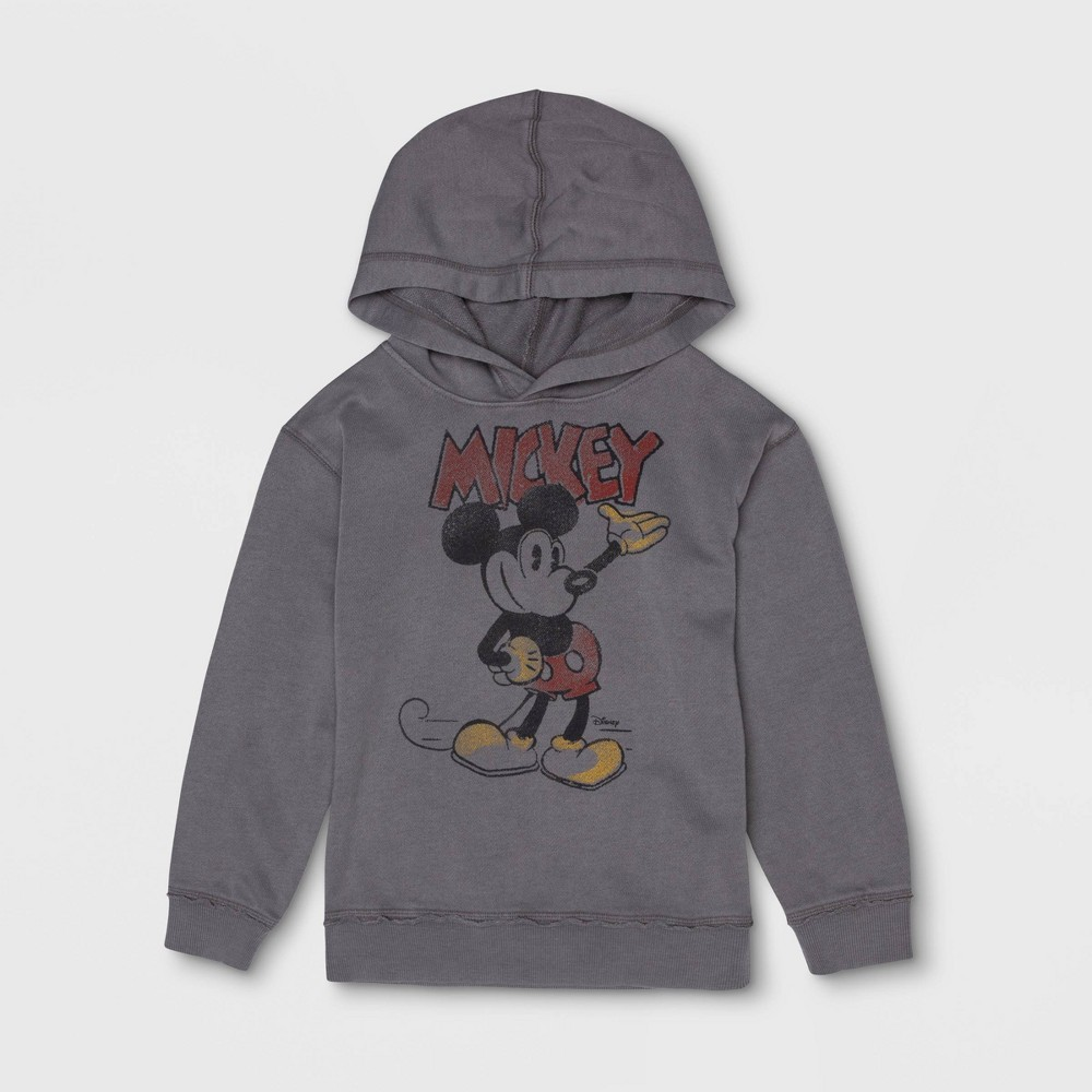 Junk Food Toddler Boys' Mickey Mouse Hooded Sweatshirt - Gray 5T