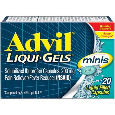 Advil Pain Reliever/Fever Reducer Liqui-Gel Minis - Ibuprofen (NSAID) - image 1 of 5