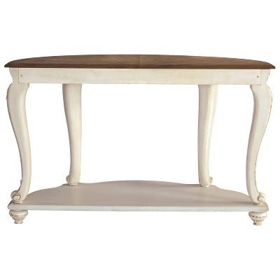Realyn Sofa Table White/Brown - Signature Design by Ashley