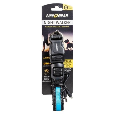 Life+Gear Rechargeable Glow Dog Collar - S
