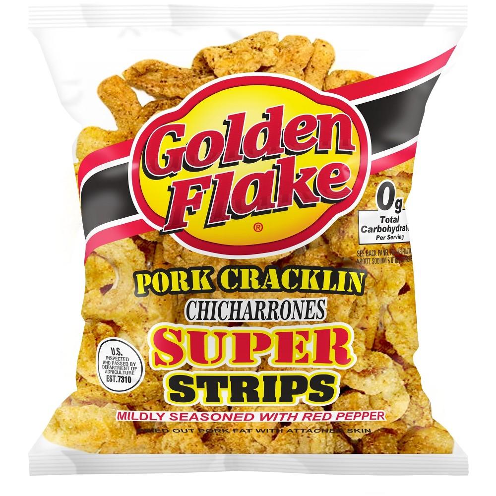 Golden Flake Pork Cracklin Super Strips - 3.25oz