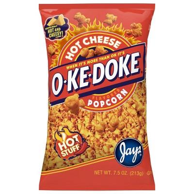 O-Ke-Doke Hot Cheese Flavored Popcorn - 7.5oz