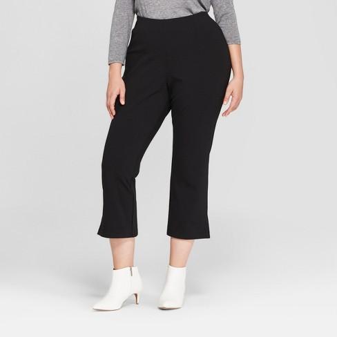 274c5e5ee5236 Women s Plus Size Crop Flare Pants - Prologue™ Black   Target