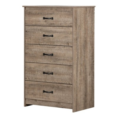 Tassio 5 Drawer Chest Weathered Oak - South Shore