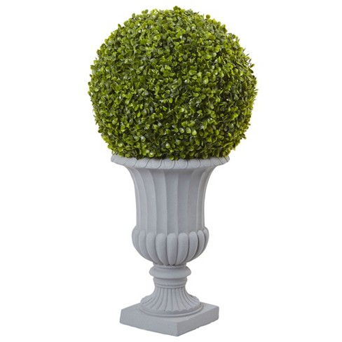 2.5' Boxwood Topiary with Urn (Indoor/Outdoor) - Nearly Natural - image 1 of 1