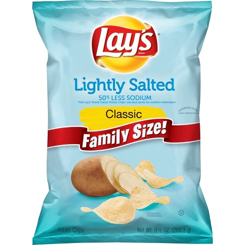 Lay's® Lightly Salted Potato Chips - 9.5oz - image 1 of 3