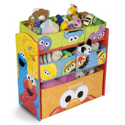 Sesame Street Design and Store 6 Bin Toy Organizer - Delta Children