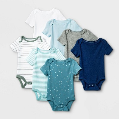 Baby Boys' 7pk Basics Bodysuits - Cloud Island™ Navy