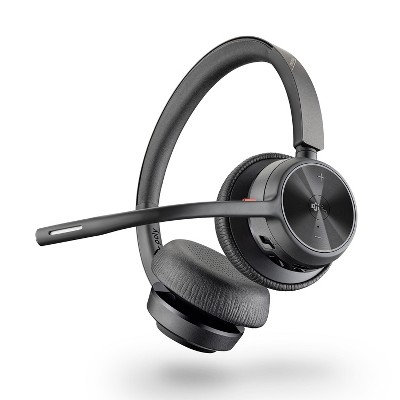 Poly Voyager 4320 UC Wireless Headset (Plantronics) - Headphones with Boom Mic - Connect to PC / Mac via USB-A Bluetooth Adapter, Cell Phone via Bluetooth - Works with Teams (Certified), Zoom & More